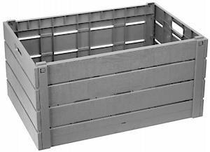 Wood Effect Fold Crate Hw130grey