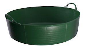 Flks Shallow Tubtrug Green 35L