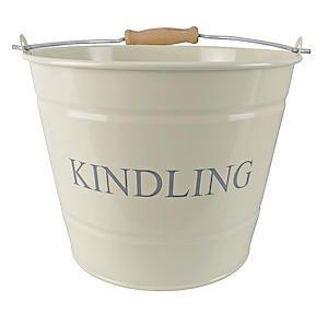 Small Kindling Bucket Cream 0360