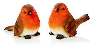15Cm 2 Asst Robin Polyresin Ornament