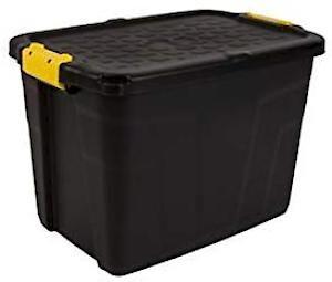 Store Box&Lid Heavy Duty 60Lt Hw442