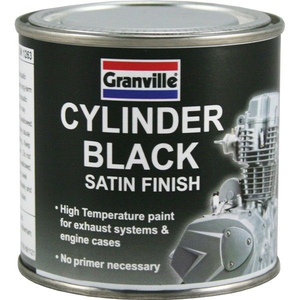 High Temperature Cylinder Paint Black Satin 250Ml
