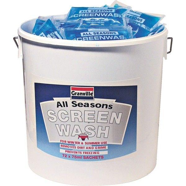 Screenwash Bucket Ready Mixed 20C 72 X 75Ml Sachets