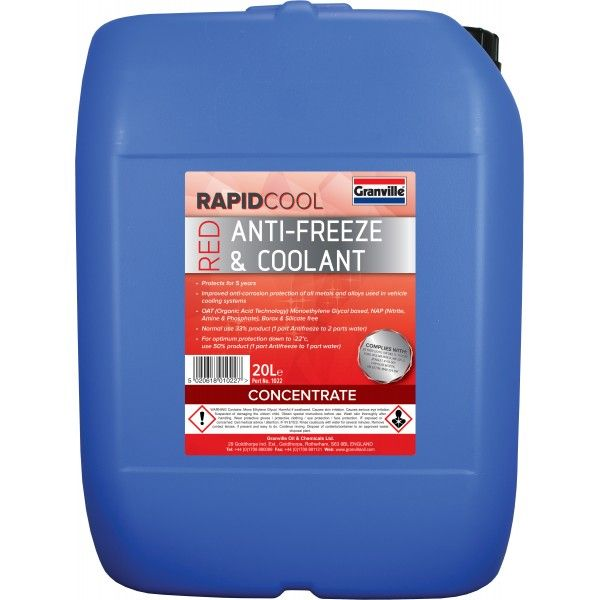 Rapid Cool Red Anti Freeze Concentrate 20L