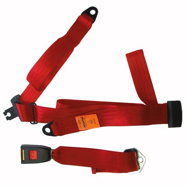 Seat Belt Static Lap Diagonal Red