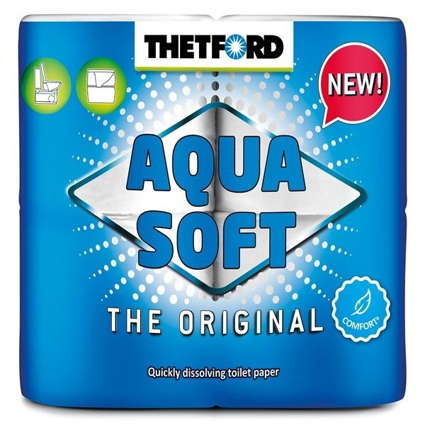 Aqua Soft Toilet Rolls Pack Of 4