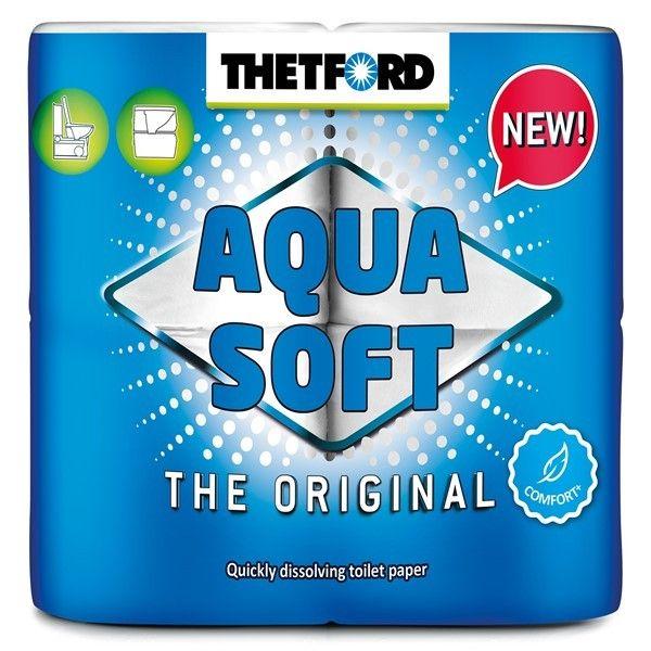 Aqua Soft Toilet Rolls Pack Of 4