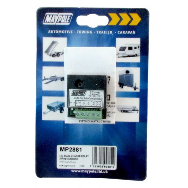Automatic Dual Charge Relay 15A
