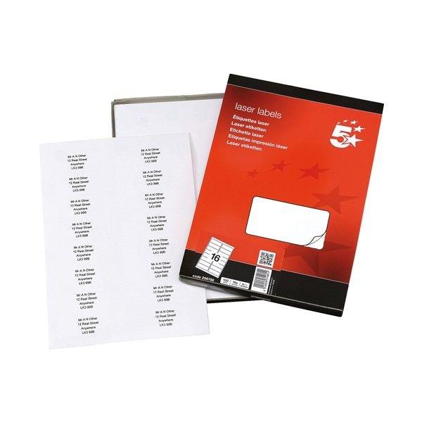 Laser Address Labels 99 X 68Mm Pack Of 1600