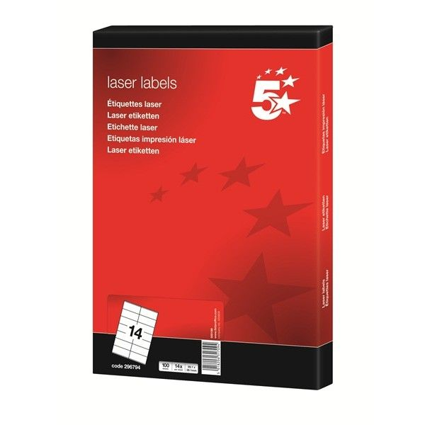 Laser Address Labels 99 X 38Mm Pack Of 1400