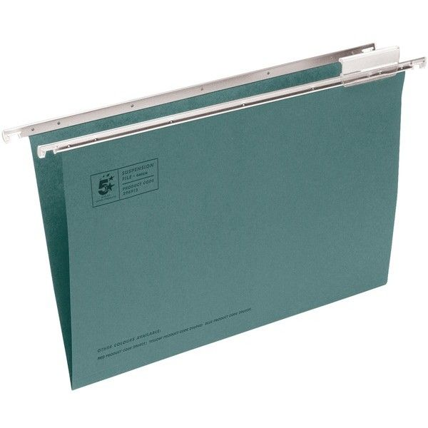 Foolscap Heavyweight Manilla Suspension Files With Tabs Pack Of 50