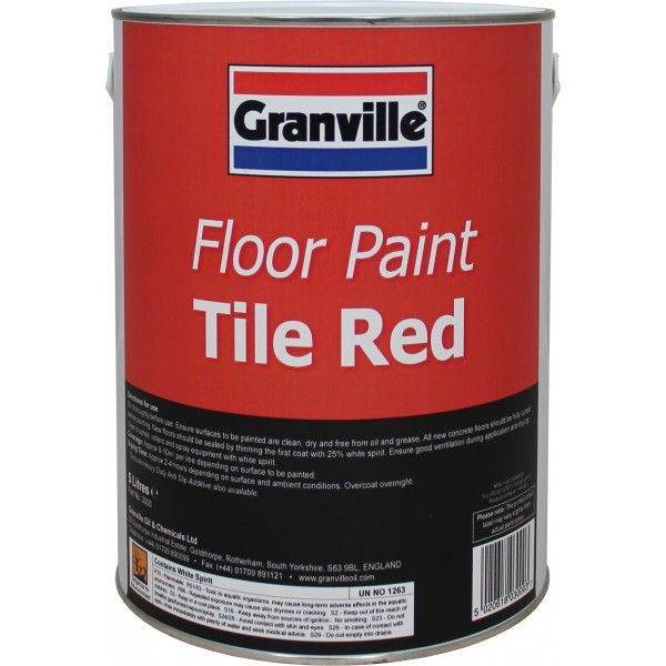 Tile Red Floor Paint 5 Litre