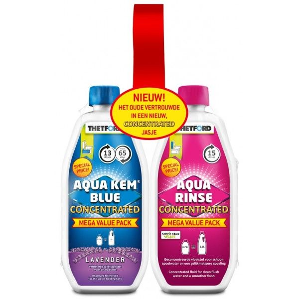 Aqua Kem Toilet Fluid And Rinse Concentrate Duo Pack 0.75L