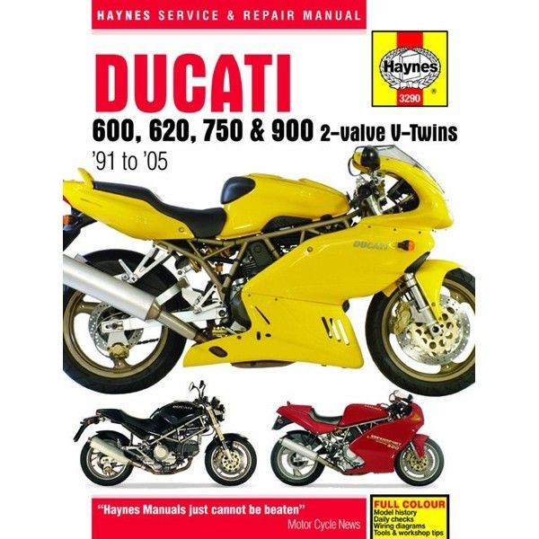 Motorcycle Manual Ducati 600 620 750 900 2Valve Vtwins 19912005