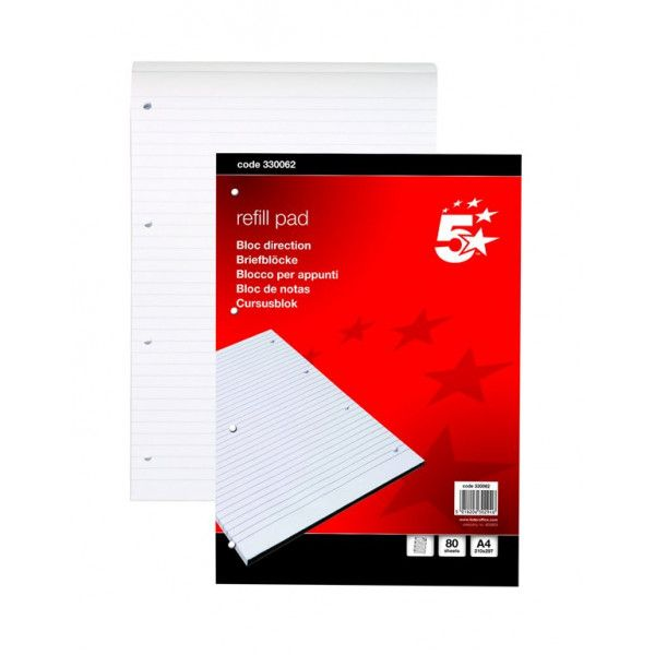 A4 Headbound Feint Ruled Refill Pad 80 Sheets Pack Of 10