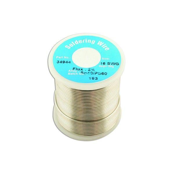 Solder Wire 16 Swg 1.6Mm 0.5Kg Reel