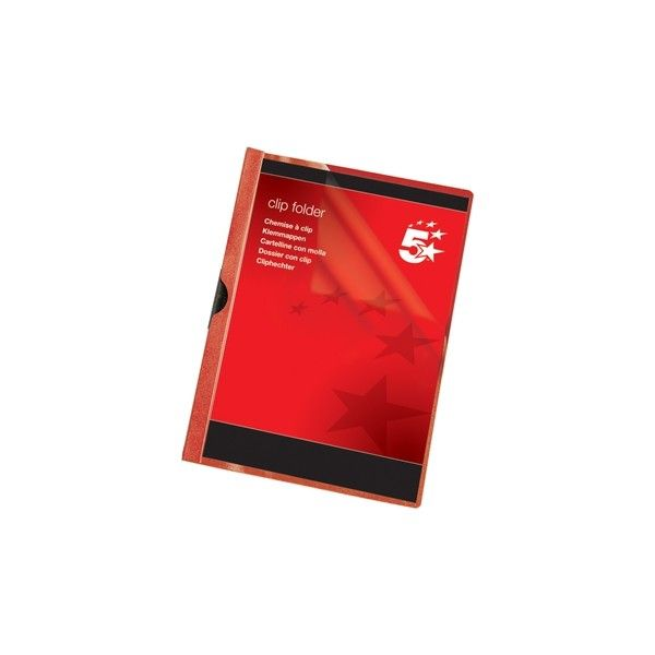 A4 Clip Folders Red Pack Of 25