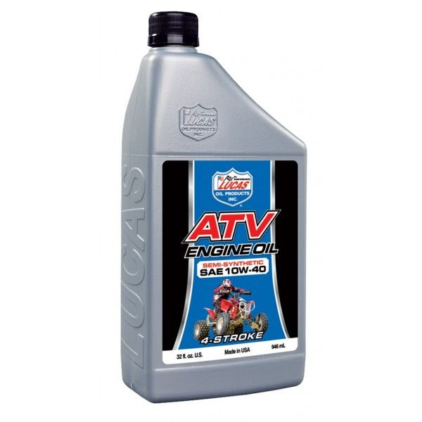 10W40 Sae Semisynthetic Motorcycle Atv Oil 946Ml