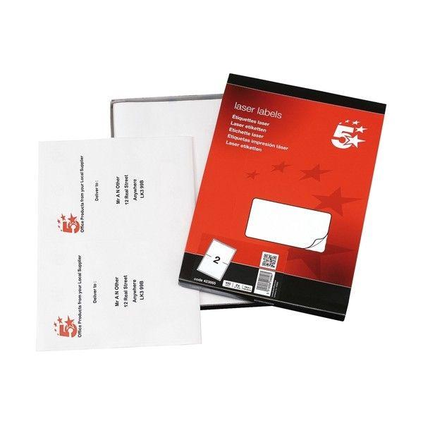 Laser Address Labels 200 X 144Mm Pack Of 200
