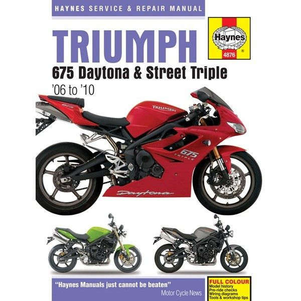 Motorcycle Manual Triumph 675 20062010