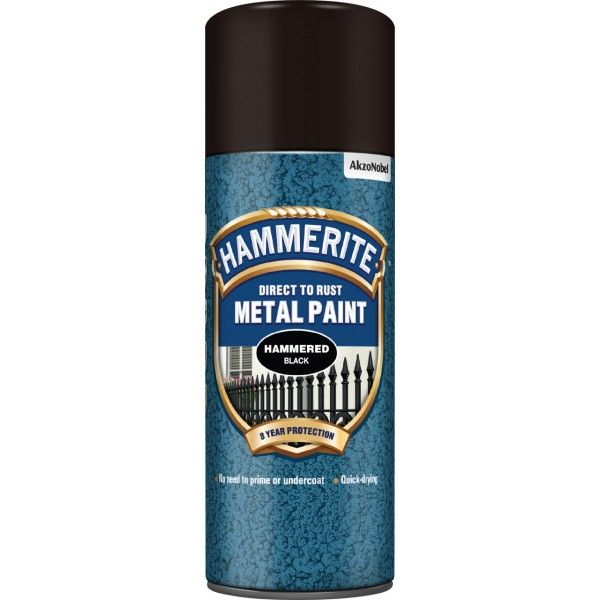 Direct To Rust Metal Paint Hammered Black 400Ml