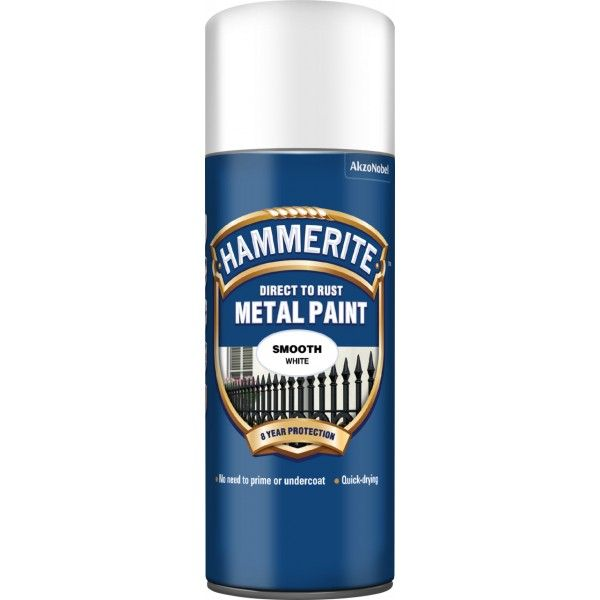Direct To Rust Metal Paint Smooth White 400Ml