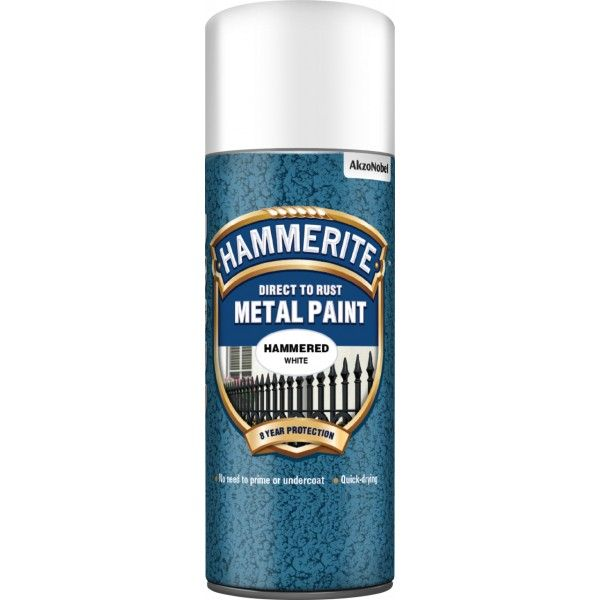 Direct To Rust Metal Paint Hammered White 400Ml