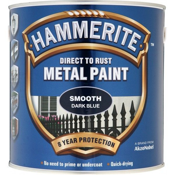 Direct To Rust Metal Paint Smooth Dark Blue 2.5 Litre