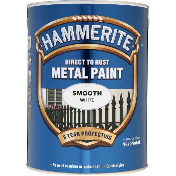 Direct To Rust Metal Paint Smooth White 5 Litre