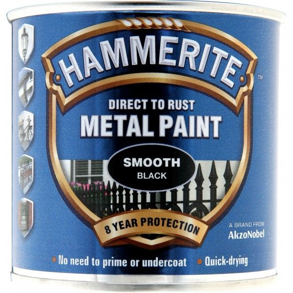 Direct To Rust Metal Paint Smooth Black 250Ml