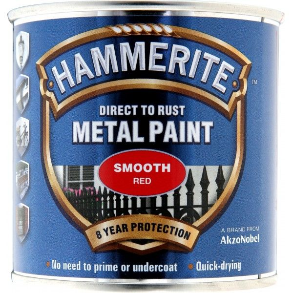 Direct To Rust Metal Paint Smooth Red 250Ml