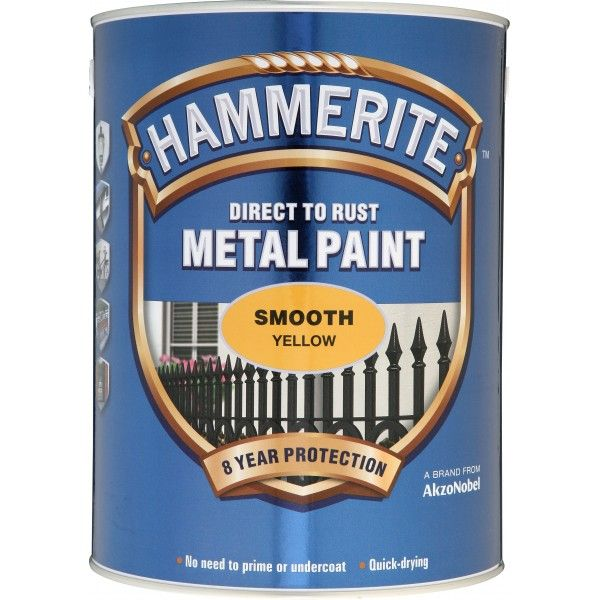 Direct To Rust Metal Paint Smooth Yellow 5 Litre