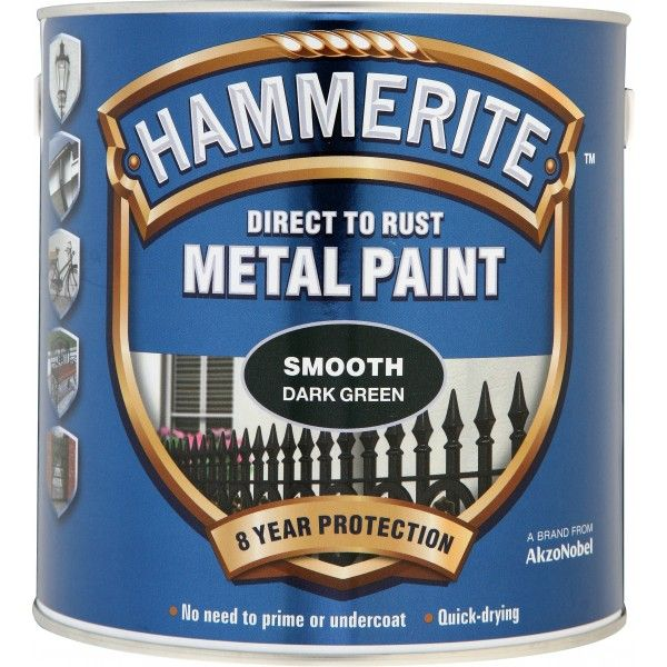 Direct To Rust Metal Paint Smooth Dark Green 2.5 Litre