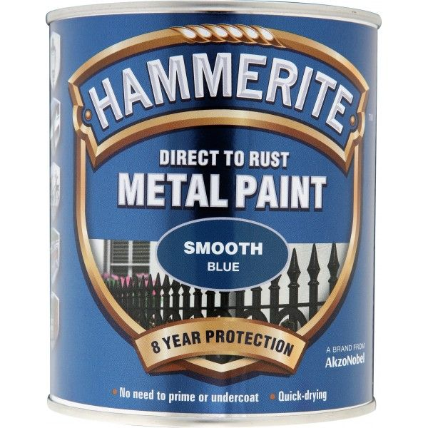 Direct To Rust Metal Paint Smooth Blue 750Ml