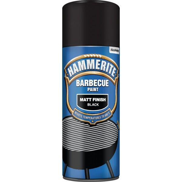 Bbq Paint Aerosol Matt Black 400Ml