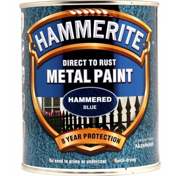 Direct To Rust Metal Paint Hammered Blue 750Ml
