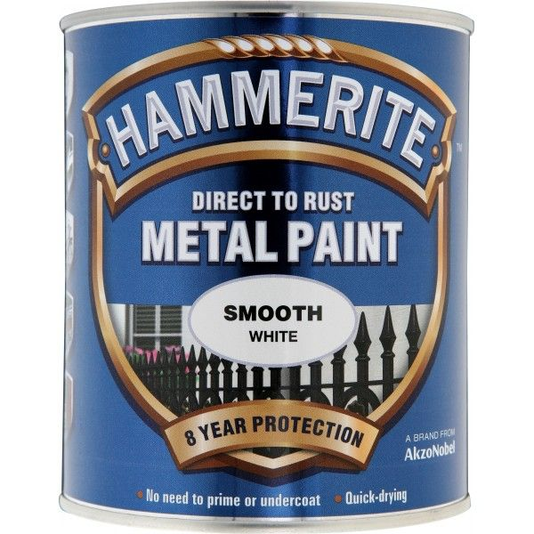 Direct To Rust Metal Paint Smooth White 750Ml
