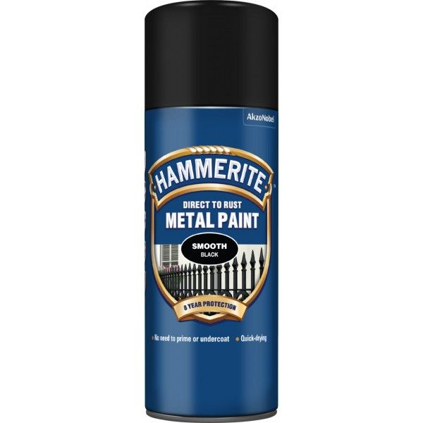 Direct To Rust Metal Paint Smooth Black 400Ml