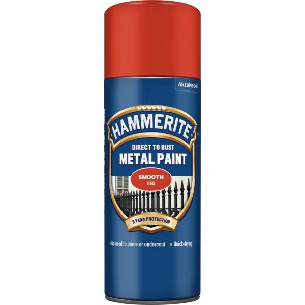 Direct To Rust Metal Paint Smooth Red 400Ml