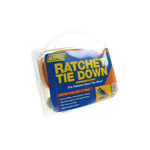 Ratchet Tie Down Strap Hooks 4.5M X 38Mm