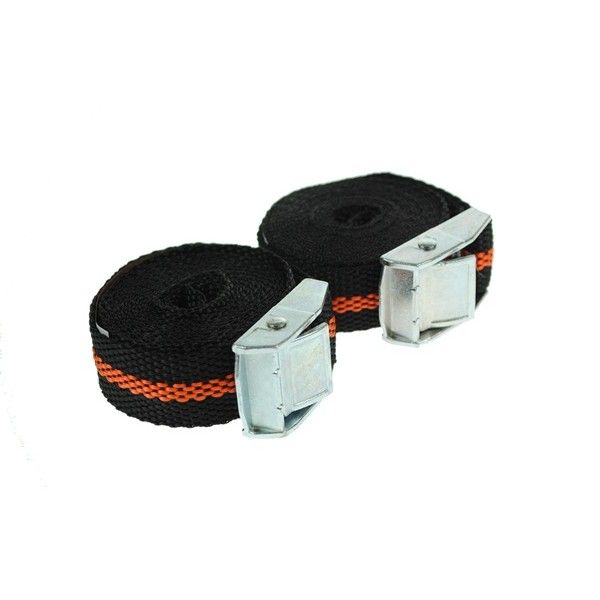 Luggage Straps With Cam Buckle 2.5M X 25Mm Pack Of 2