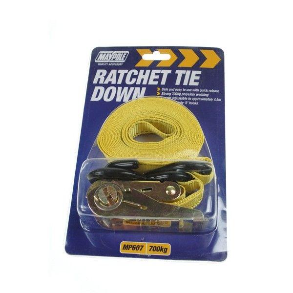 Ratchet Tie Down Strap Hooks 4.5M X 25Mm