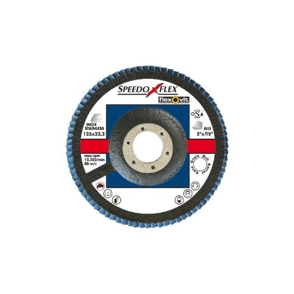 Zirconium Flap Discs 115Mm P40 Pack Of 1