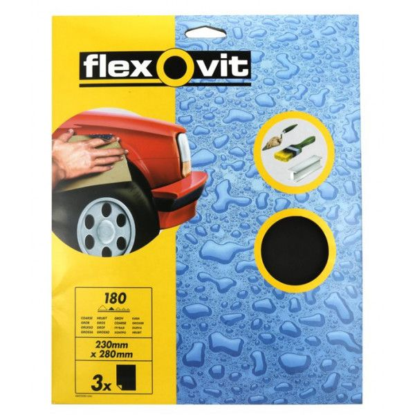 Wet Dry Paper P180 Pack Of 3