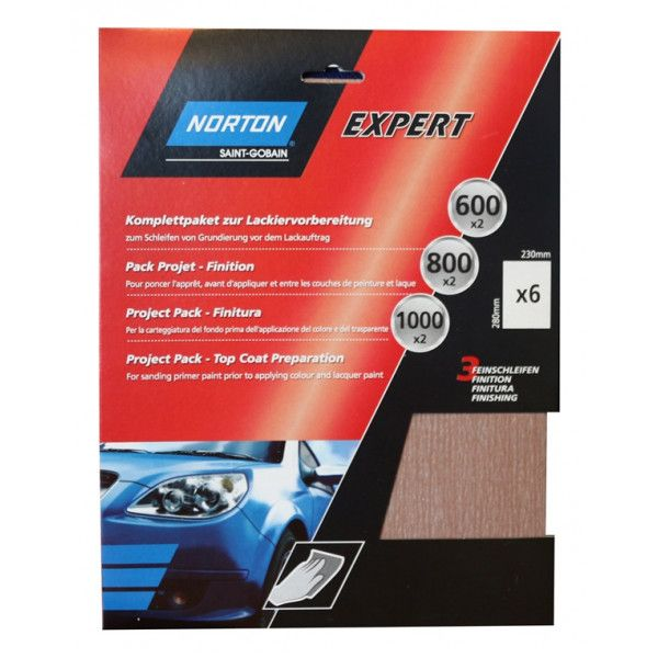 Norton Project Pack Topcoat Preparation Pack Of 6 Sanding Sheets