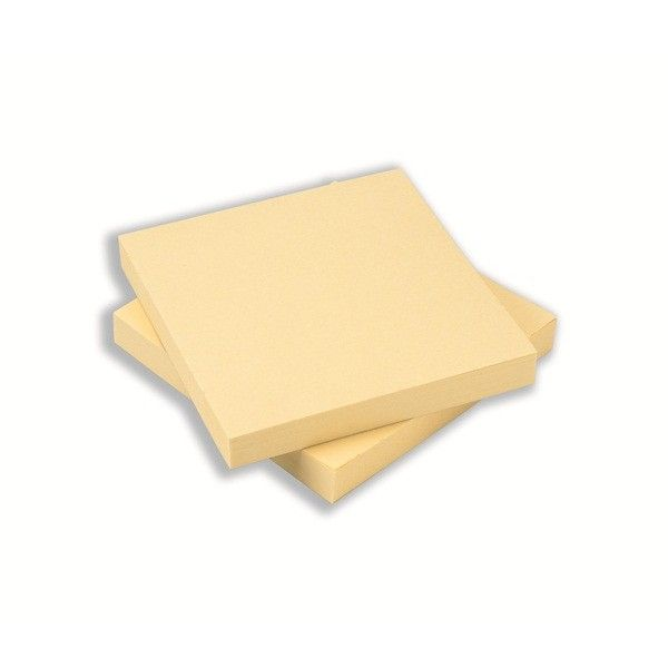 Repositionable Notes Yellow 75 X 75Mm Pack Of 12