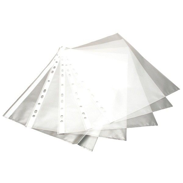 A4 Multipunched Pockets Clear Pack Of 100