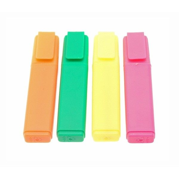 Office Highlighters Assorted Colours Pack Of 4