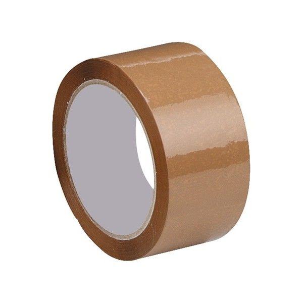 Packaging Tape Brown 50Mm X 66M Pack Of 6