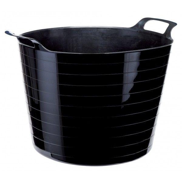 Heavy Duty Flexible Bucket Black 40 Litre